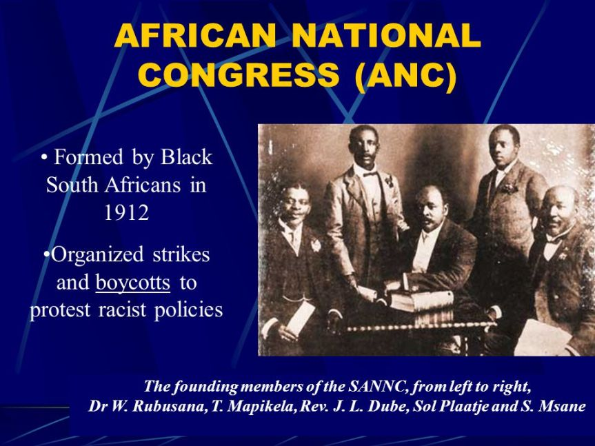 HIStory of the African NationalCongress